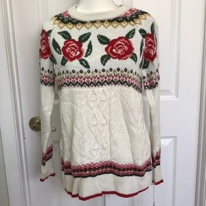 NWT mossimo Rose floral oversized sweater sz XS